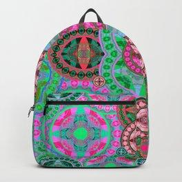 Uplifting Refreshing Mega Mandala in Pink and Green Backpack