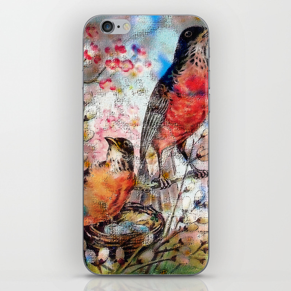 A Robin Redbreast Morning Iphone & Ipod Skin by Tammera (PSK9496762) photo