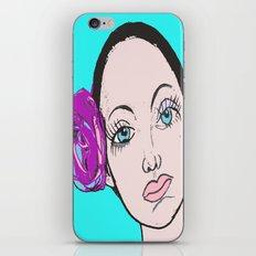 Ballet Dancer in blue (series) iPhone & iPod Skin