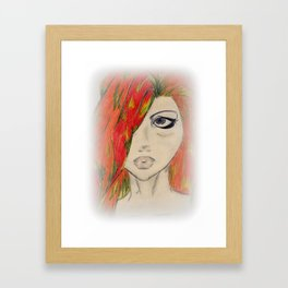 Clean Cut Red Framed Art Print