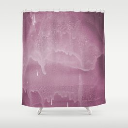 Pink graffiti stain on gray background ready for picture, clothes, furniture, iphone cases Shower Curtain