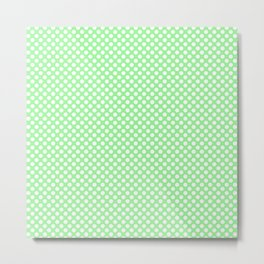 Polka Dots Pattern-Green Metal Print