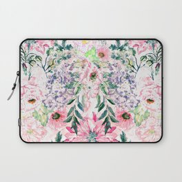 Boho chic watercolor pink floral hand paint Laptop Sleeve