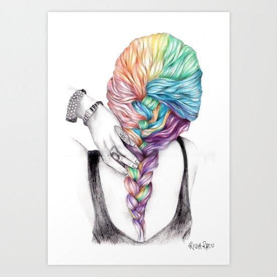 Braid Art Print