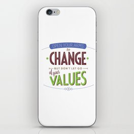 Rules for Living #9 iPhone Skin