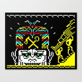 The Journey of the Sun page 2 (teletext) Canvas Print