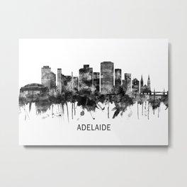 Adelaide Australia Skyline BW Metal Print
