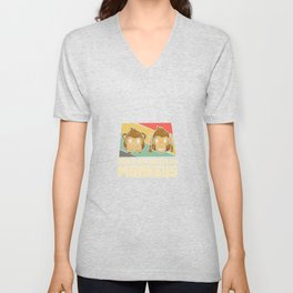 Easily distracted by monkeys Unisex V-Neck