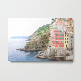 Colorful Cinque Terre, Italy, View of Riomaggiore Metal Print