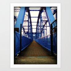 Purple People Bridge Art Print
