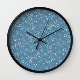 Polka Dots Stamps on Niagara Wall Clock