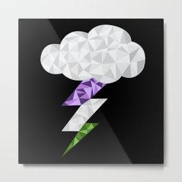 Gender Queer Storm Cloud Metal Print