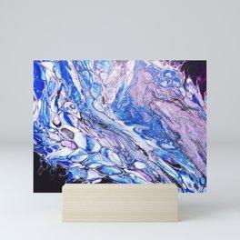 Blue and Purple Ocean Flow Mini Art Print