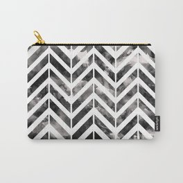 Brush Chevron Carry-All Pouch
