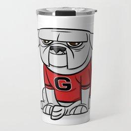 Bulldog from Georgia Travel Mug
