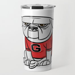 Bulldog from Georgia Travel Mug