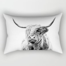 portrait of a highland cow Rectangular Pillow