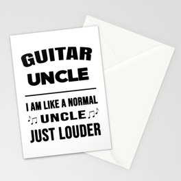 Guitar Uncle Like A Normal Uncle Just Louder Stationery Cards