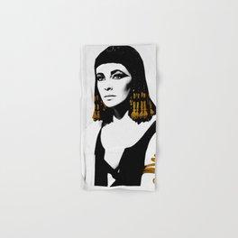 black & gold Cleo Hand & Bath Towel