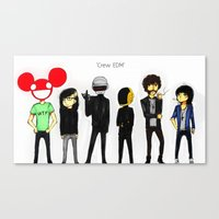edm Canvas Prints featuring Crew EDM by American Mornings