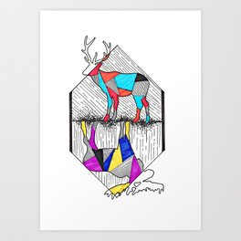 A wounded deer leaps the highest Art Print