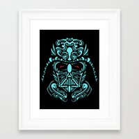 darth Framed Art Prints featuring Darth James Darth by Quakerninja