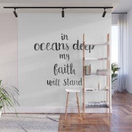 In Oceans Deep Quote Wall Mural