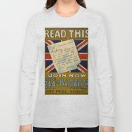 Vintage poster - Read This Join Now Long Sleeve T-shirt