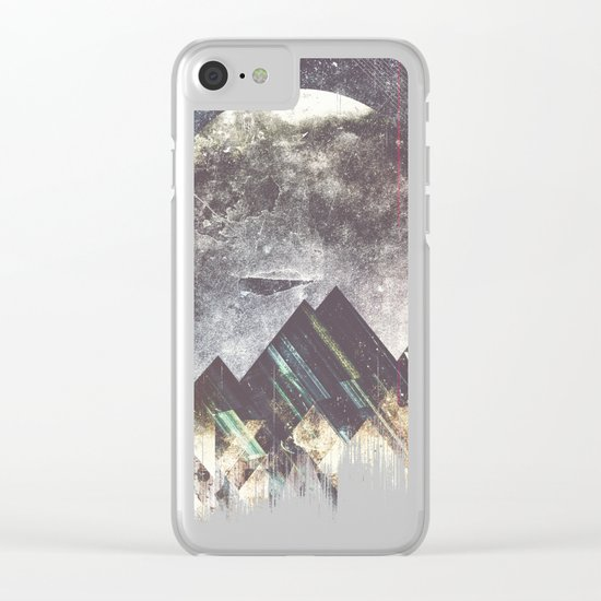 Sweet dreams mountain Clear iPhone Case