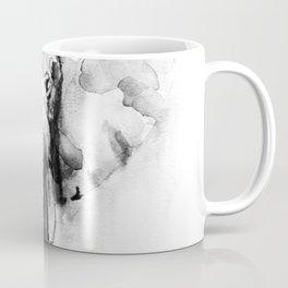Black n White Painted elephant Coffee Mug