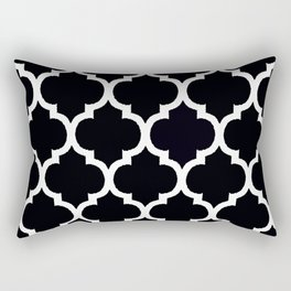 MOROCCAN BLACK AND WHITE PATTERN #2 Rectangular Pillow