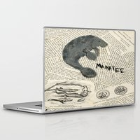 manatee Laptop & iPad Skins featuring Manatee by Cassidy Tebeau