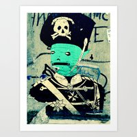 soldier Art Prints featuring soldier by very giorgious