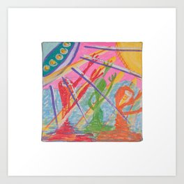 """Alien Worship"" (7138) Art Print"