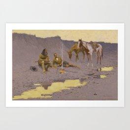 Frederic Remington - A New Year on the Cimarron Art Print