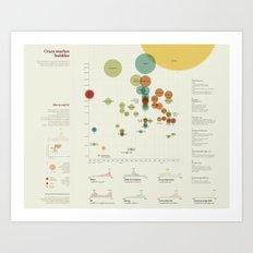 Crazy market bubbles (Visual Data 01) Art Print