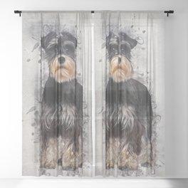 Miniature Schnauzer Sheer Curtain