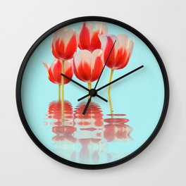 Spring Tulip Flowers Wall Clock