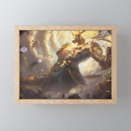 Lunar Guardian Nasus League of Legends Framed Mini Art Print