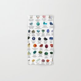 crystals gemstones identification Hand & Bath Towel