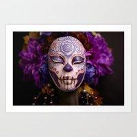 Violet Harvest Muertita Detail Art Print