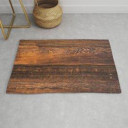Old wood texture Rug