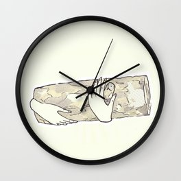 log without lady + ink + @otra_sarah Wall Clock