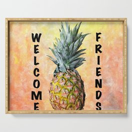 Welcome Pineapple Serving Tray