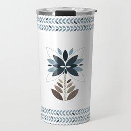 Be unique - Retro flowers Travel Mug