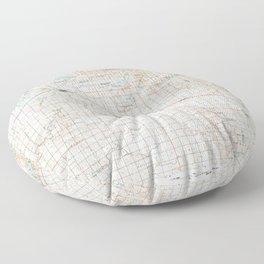 MN Willmar 805928 1986 topographic map Floor Pillow