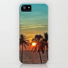 Sunset at Mauna Kea Beach, Hawaii Teal iPhone Case
