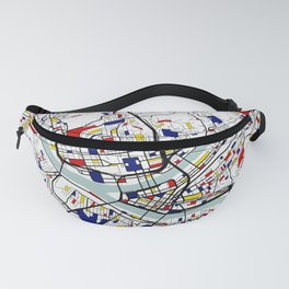 Pittsburgh City Map of the United States - Mondrian Fanny Pack