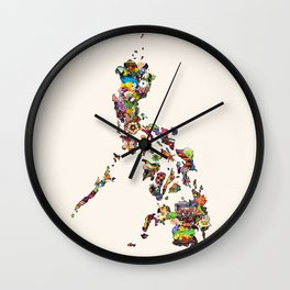 7,107 Islands | A Map of the Philippines Wall Clock