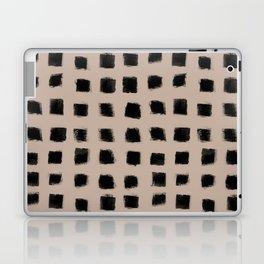 Polka Strokes - Black on Nude Laptop & iPad Skin